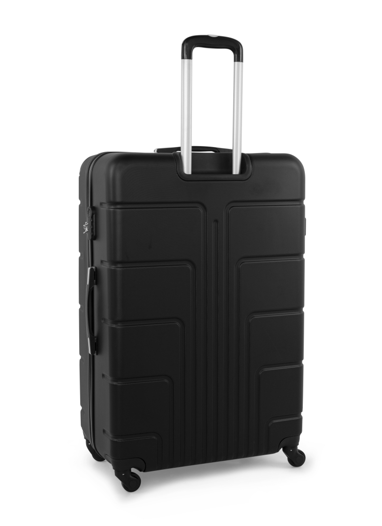 Senator Brand Hardside 3 Piece Set of 4 Wheel Spinner Luggage Trolley in Black Color A1012-3_BLK