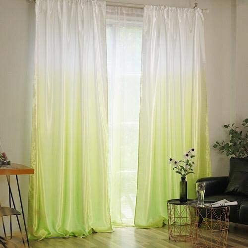 Deals For Less - Green Ombre Design, Curtains Window Decor, Set Of 2 Pieces.F 2 Pieces.