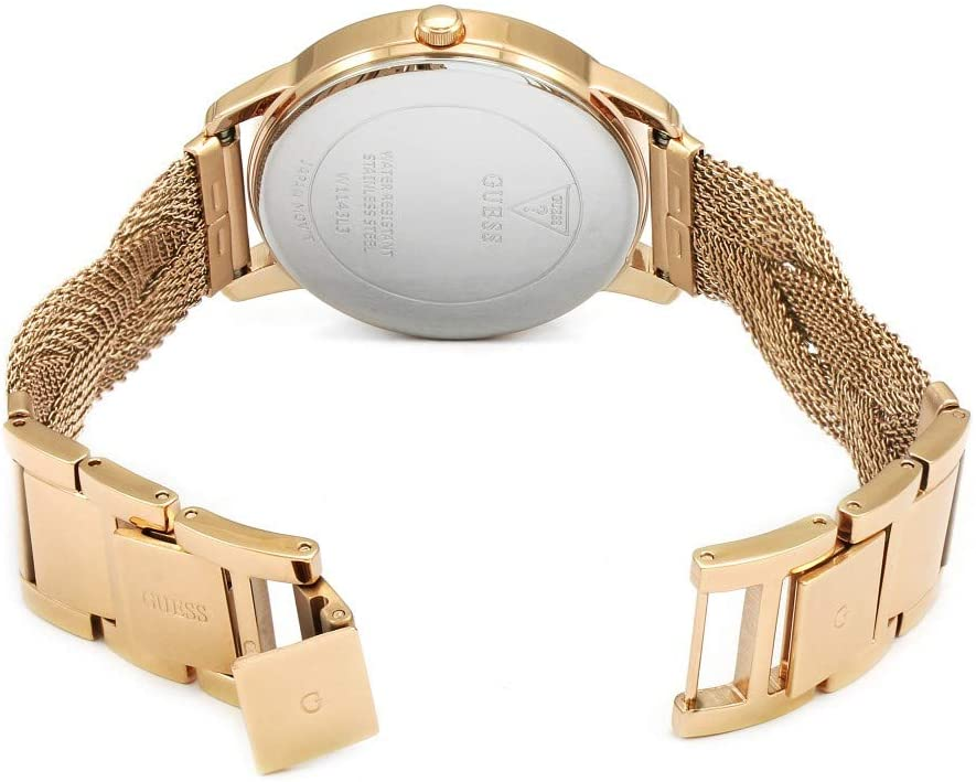 GUESS GUESS Womens Quartz Watch, Analog Display and Stainless Steel Strap - W1143L3