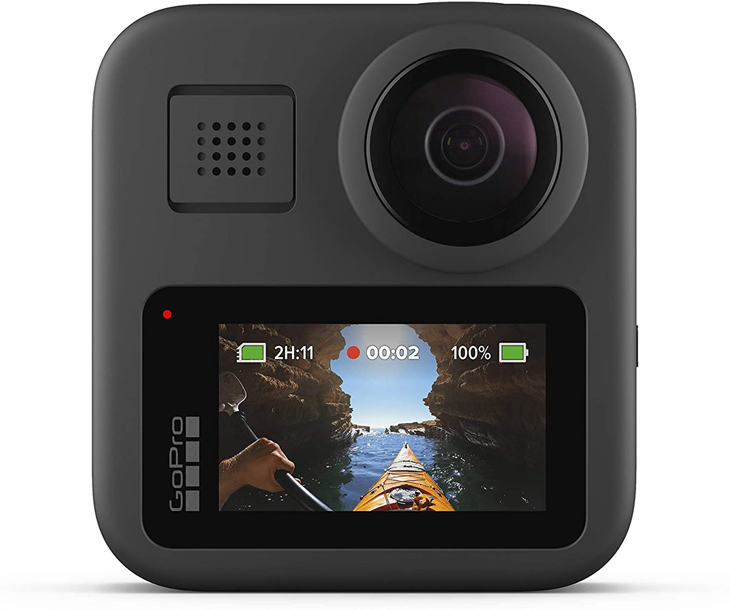 GoPro Max Waterproof 360 Digital Action Camera w/ Unbreakable Stabilisation, Touch Screen and Voice Control - Live HD Streaming