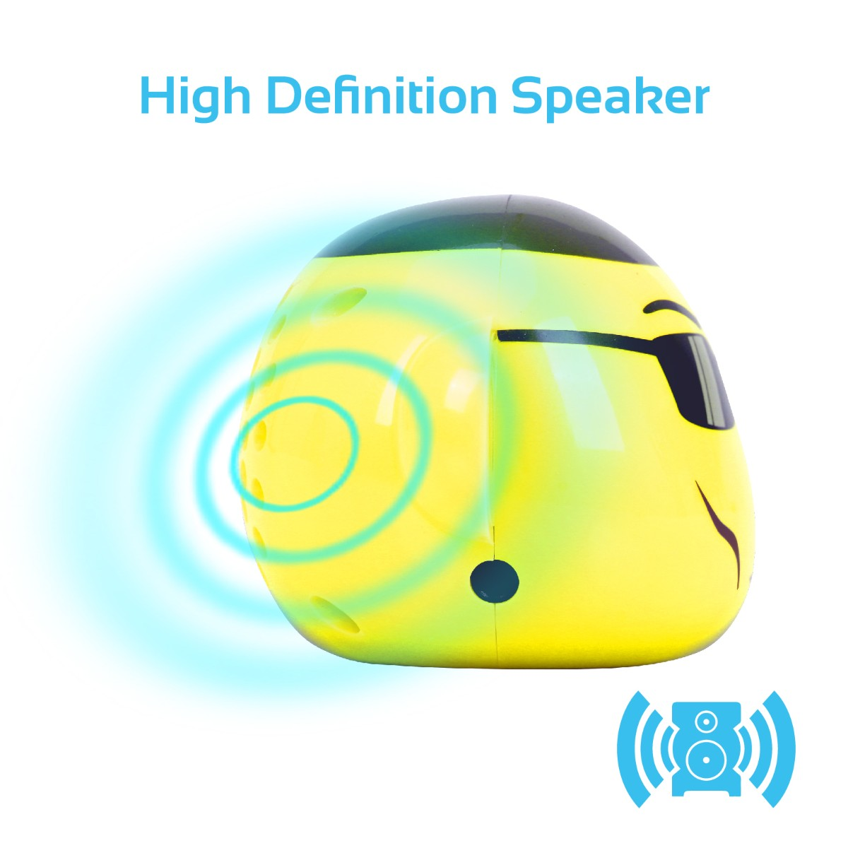 Promate Bluetooth Speaker, Portable Monkey Shape Multifunction Wireless Speaker with 3.5mm Audio for Tablets, Cell Phones - Yellow