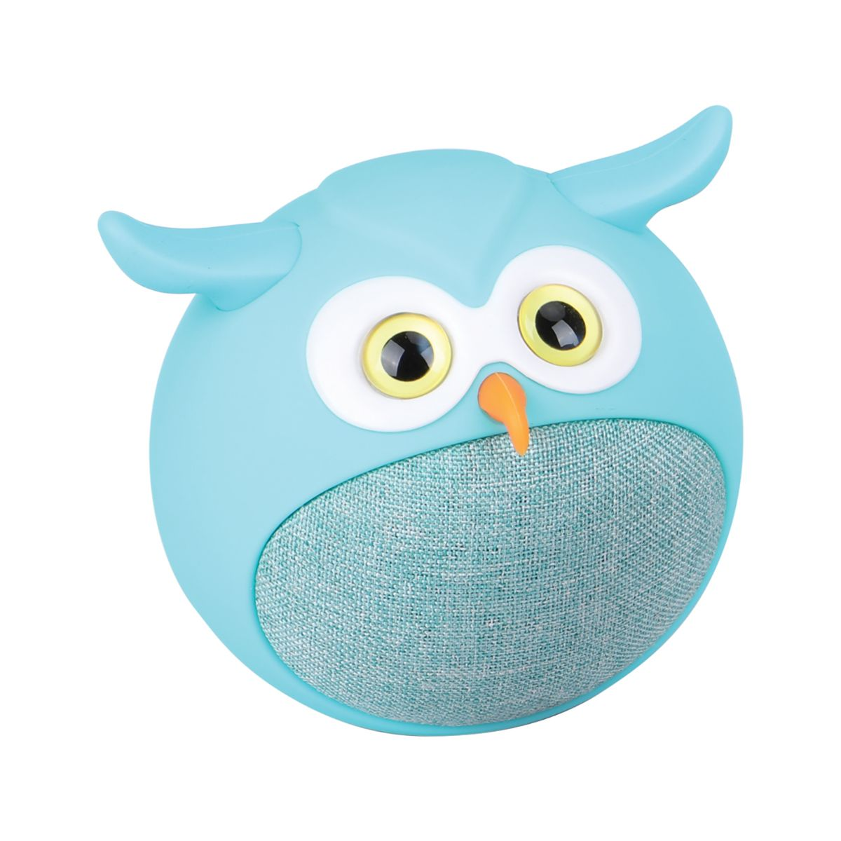 Promate True Wireless Speaker, Portable Mini Owl Bluetooth v5.0 Animal 3W Speaker with Built-In Microphone for Smartphones, Tablets, iPod - Blue