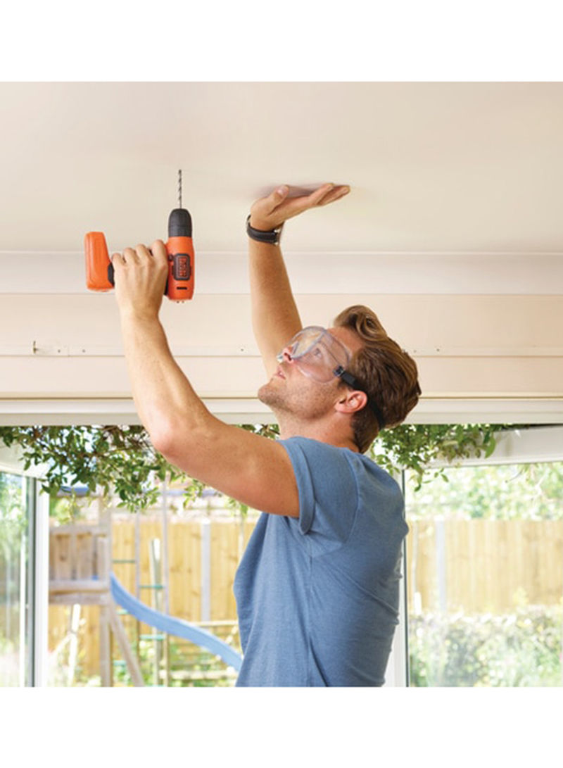 BLACK+DECKER Cordless Drill Driver Compact For Screwdriving And Fastening 7.2V Li-Ion Orange/Black (2 Years Warranty)