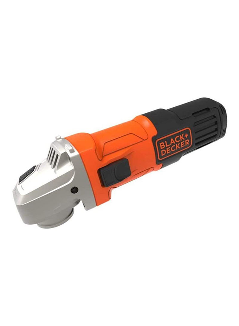 BLACK+DECKER 650W 100mm Small Angle Grinder With Slider Switch And Side Handle G650-B5 Orange/Black/Silver 4inch (2 Years Warranty)