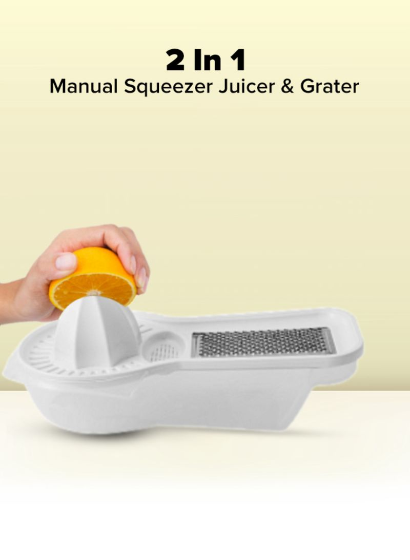 Cyber 2-In-1 Plastic Fruit Grater Clear/White