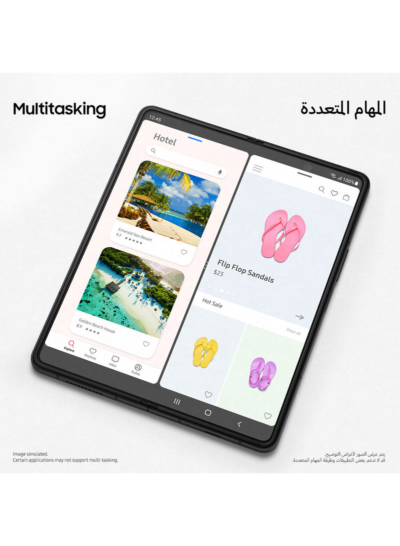 Samsung Galaxy Z Fold 3 5G Dual SIM Green 12GB RAM 512GB With Buds Pro+Cover S Pen And Samsung Care - Middle East Version