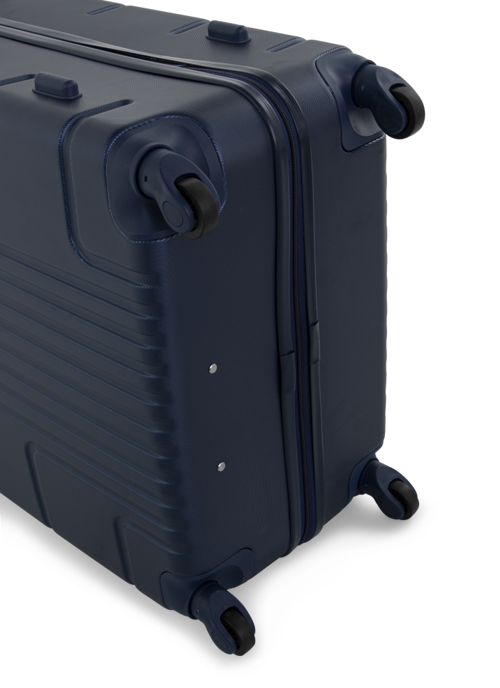 Senator Brand Hardside Small Cabin Size 52 Centimeter (20 Inch) 4 Wheel Spinner Luggage Trolley in Navy Blue Color A1012-20_BLU