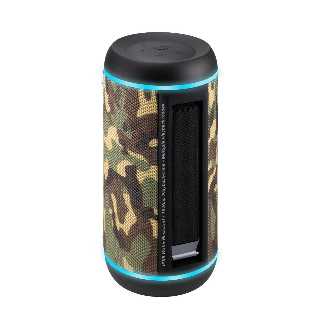 Promate True Wireless Speaker, Water-Resistant IPX6 Portable Indoor/Outdoor 30W Wireless Stereo with Built-In 6600mAh Power bank -Camouflage