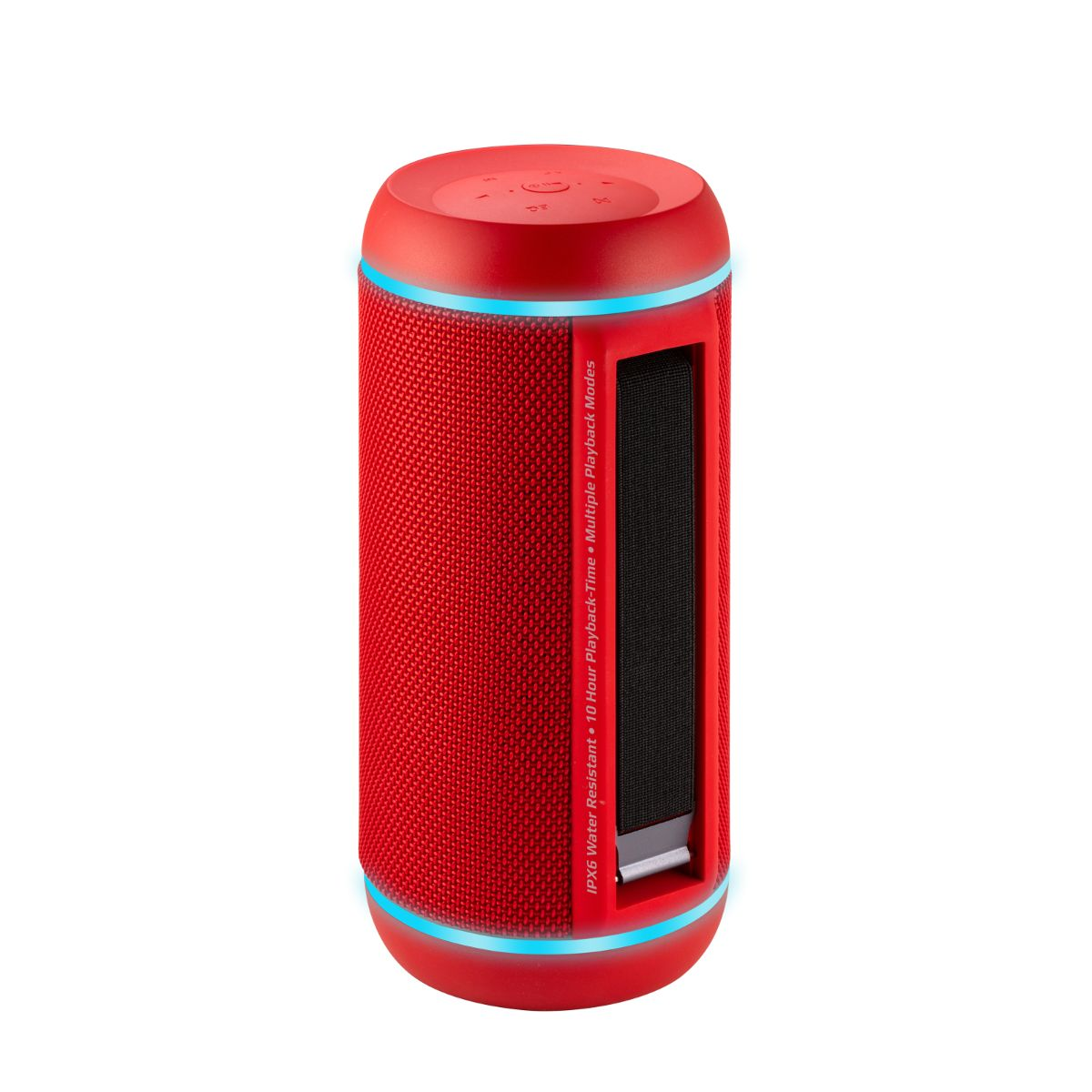 Promate True Wireless Speaker, Water-Resistant IPX6 Portable Indoor/Outdoor 30W Wireless Stereo with USB Port  & Built-In 6600mAh Power bank - Red