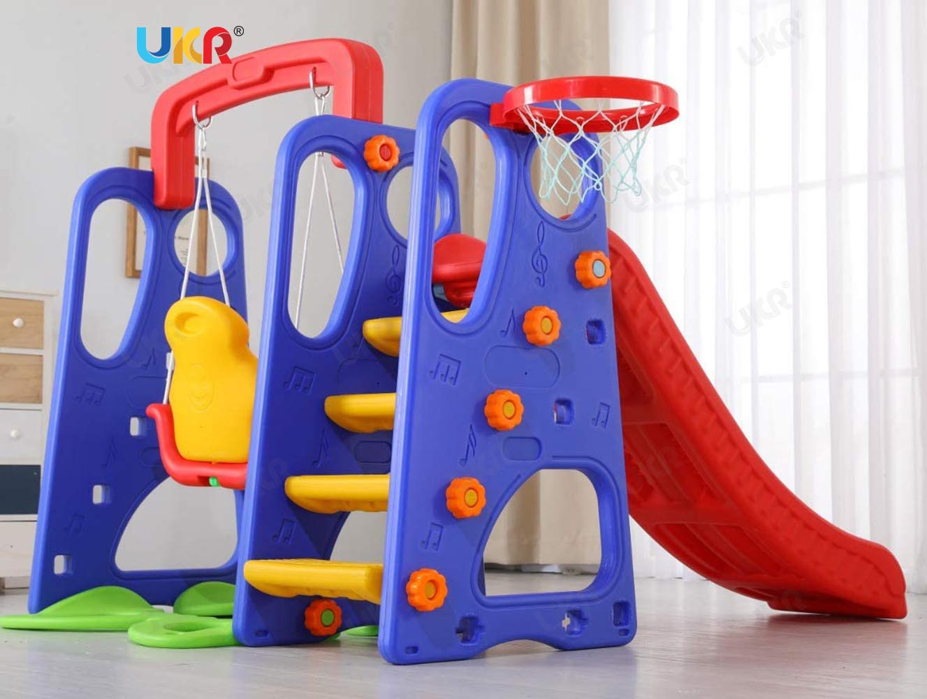 UKR Slide and Swing with Basketball 3 in 1