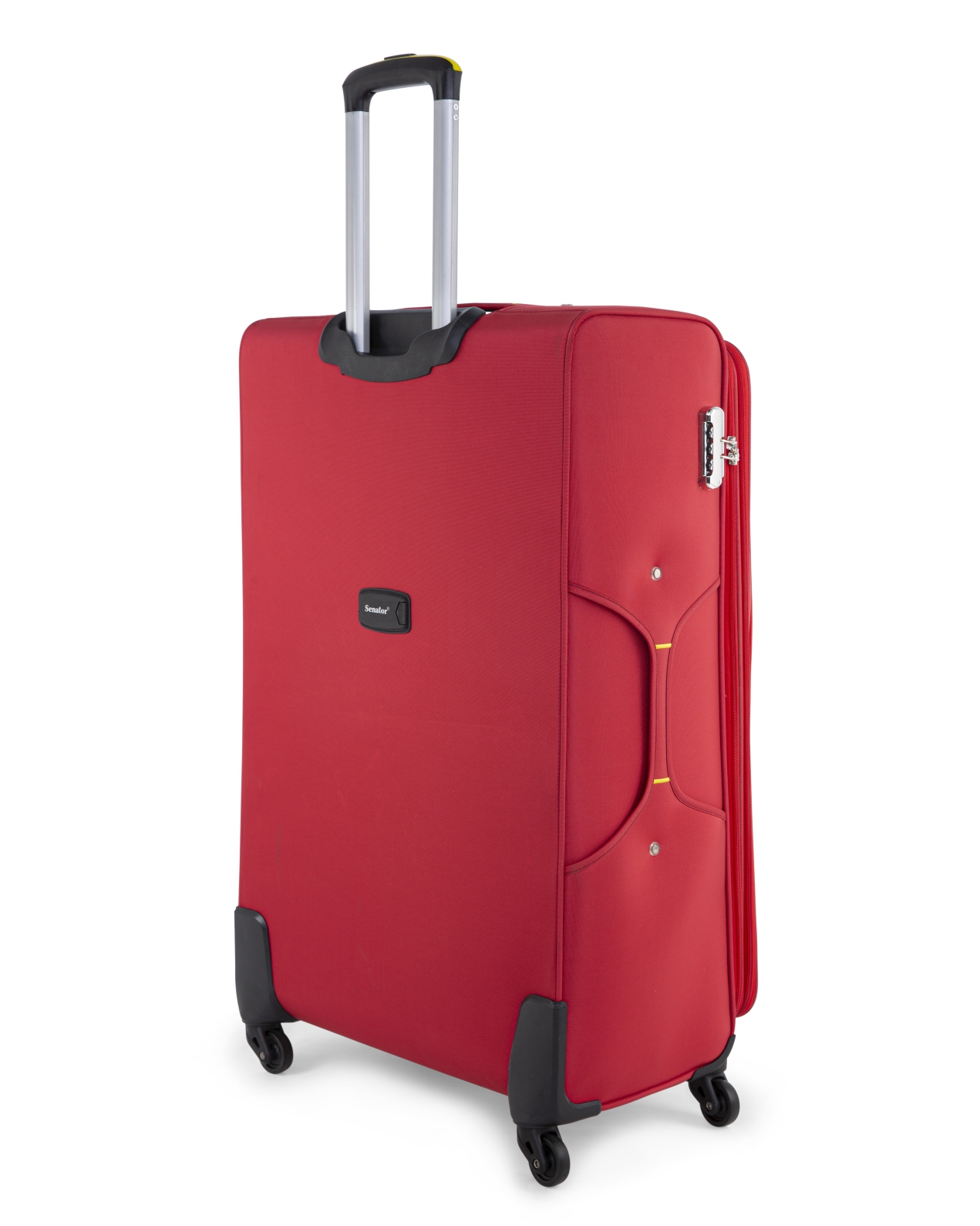 Senator Brand Softside 3 Piece Set of 4 Wheel Spinner Luggage Trolley in Red Color LL032-3_RED